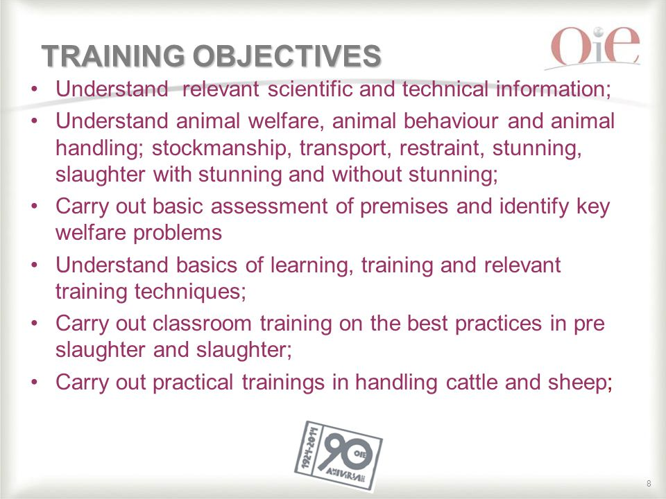 99 TRAINING SYLLABUS Knowledge Values Skills