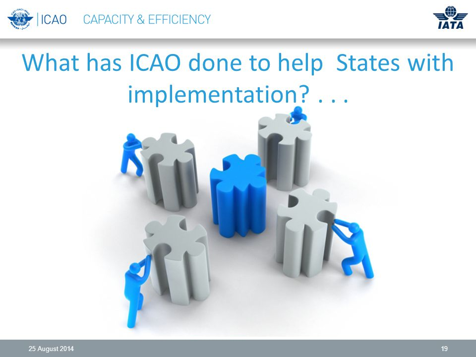What has ICAO done to help States with implementation August
