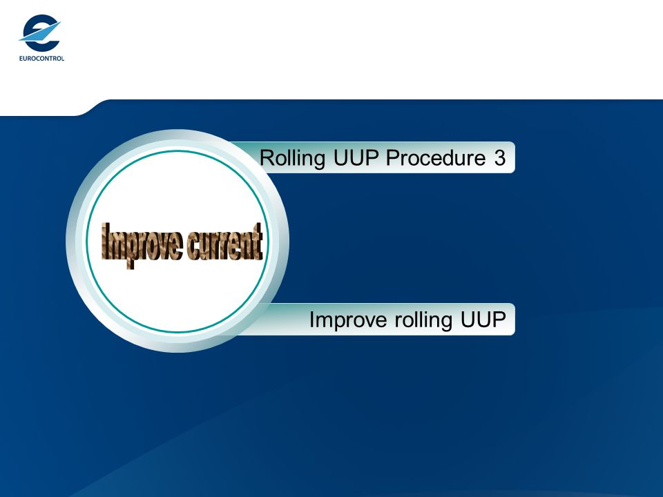 Rolling UUP Procedure 3 Improve rolling UUP