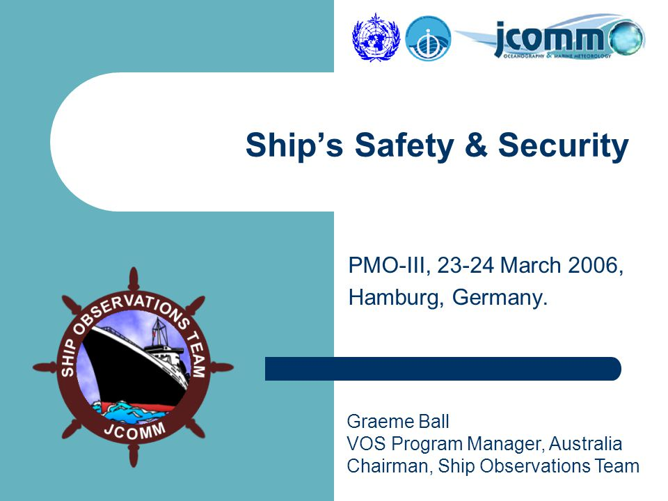 PMO-III, 23-24 March 2006, Hamburg.2 Outline  Facts about Piracy at Sea .