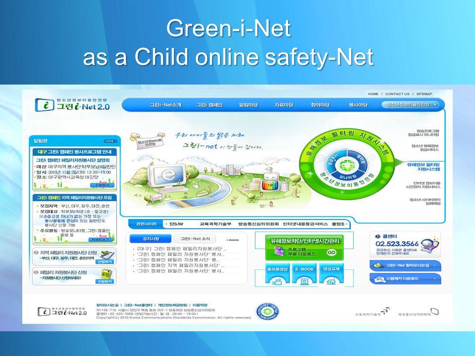 Green-i-Net as a Child online safety-Net