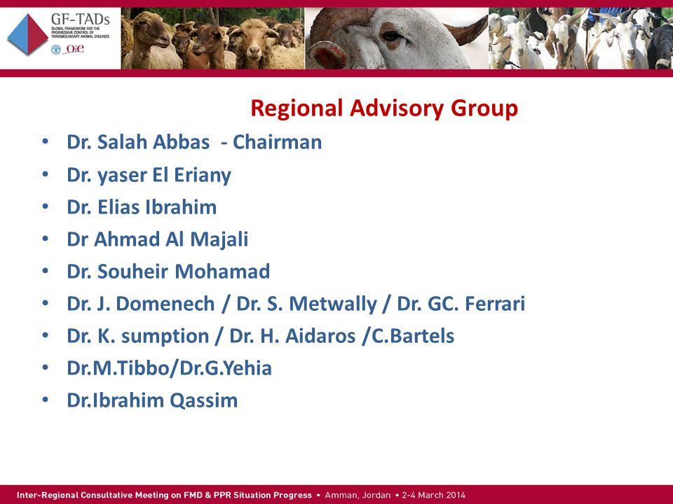 Regional Advisory Group Dr. Salah Abbas - Chairman Dr.
