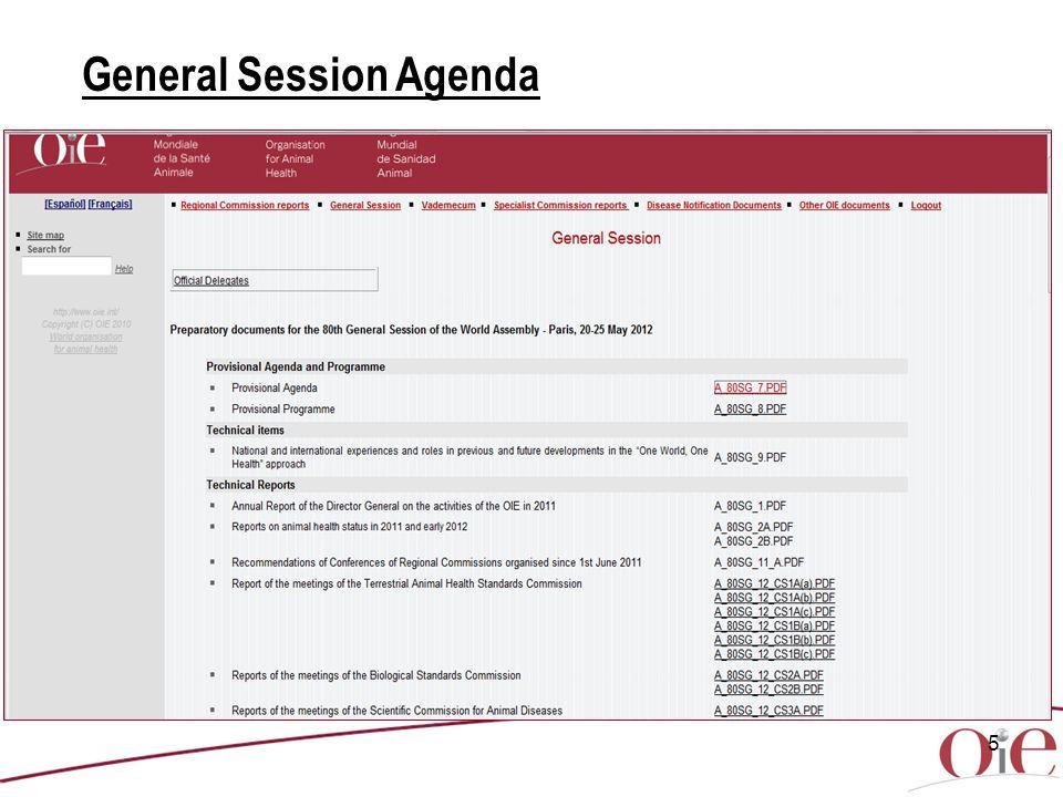 5 General Session Agenda