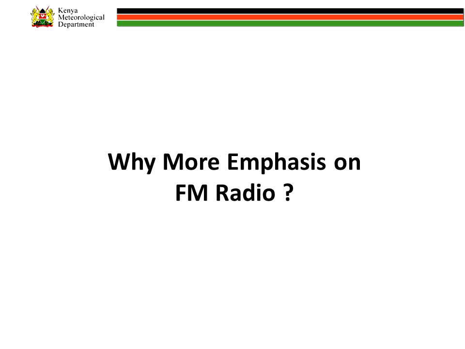Why More Emphasis on FM Radio