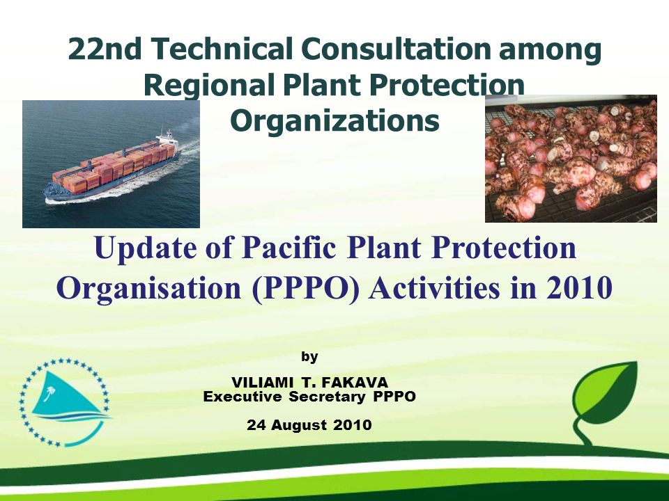 22nd Technical Consultation among Regional Plant Protection Organizations by VILIAMI T.