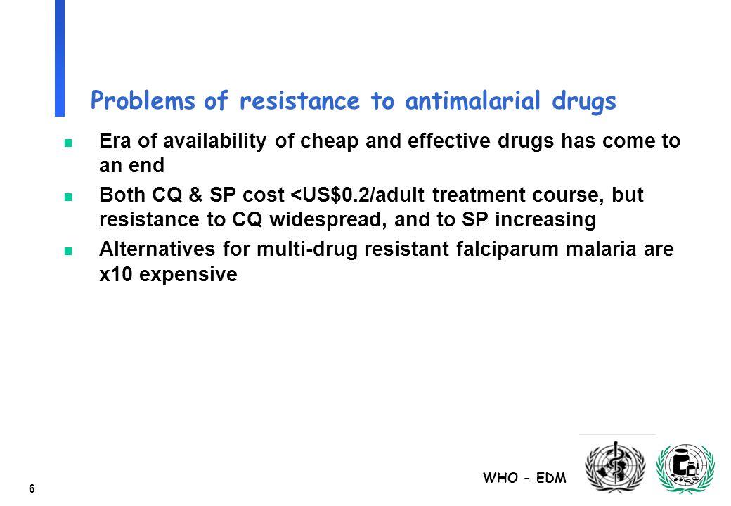 WHO - EDM 17 Failure Rates (%) - Dissolution