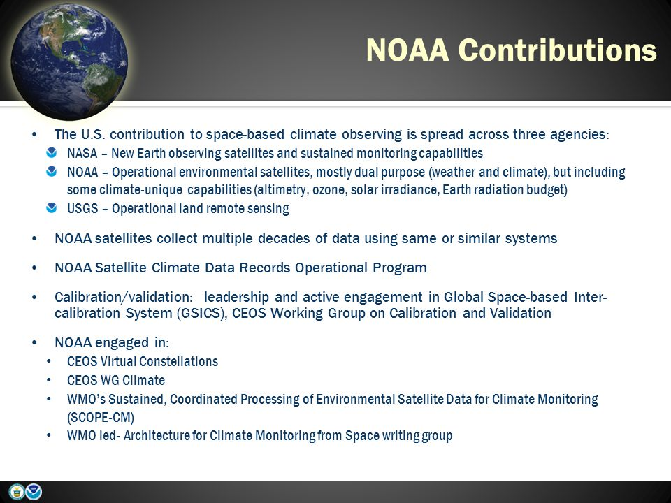 NOAA Contributions The U.S.