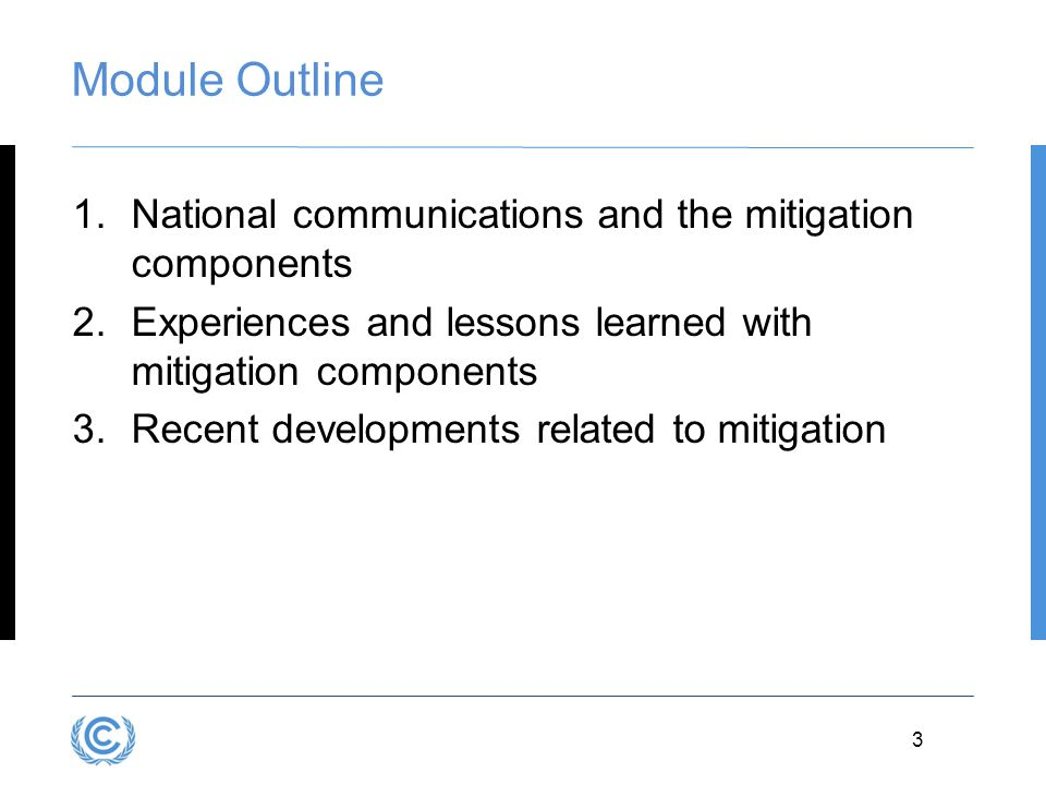 4 MODULE B1 National Communications and the Mitigation Components