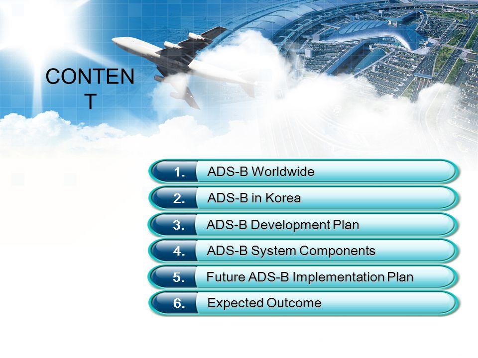 3 1 ADS-B Worldwide  ICAO  FAA NextGen : Installation of 800 ADS-B Ground-stations ('10-'13)  Mandatory installation of ADS-B avionics for all aircraft in U.S.