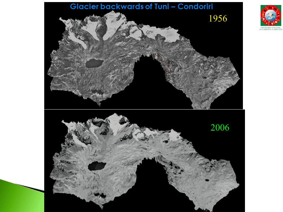 1956 2006 Glacier backwards of Tuni – Condoriri