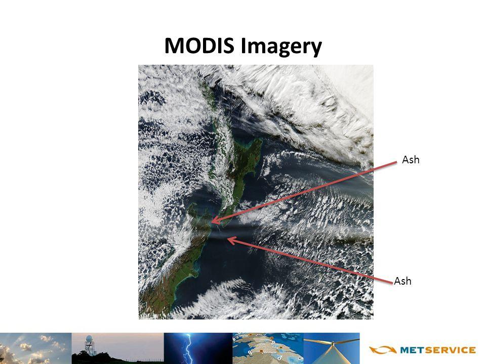 MODIS Imagery Ash