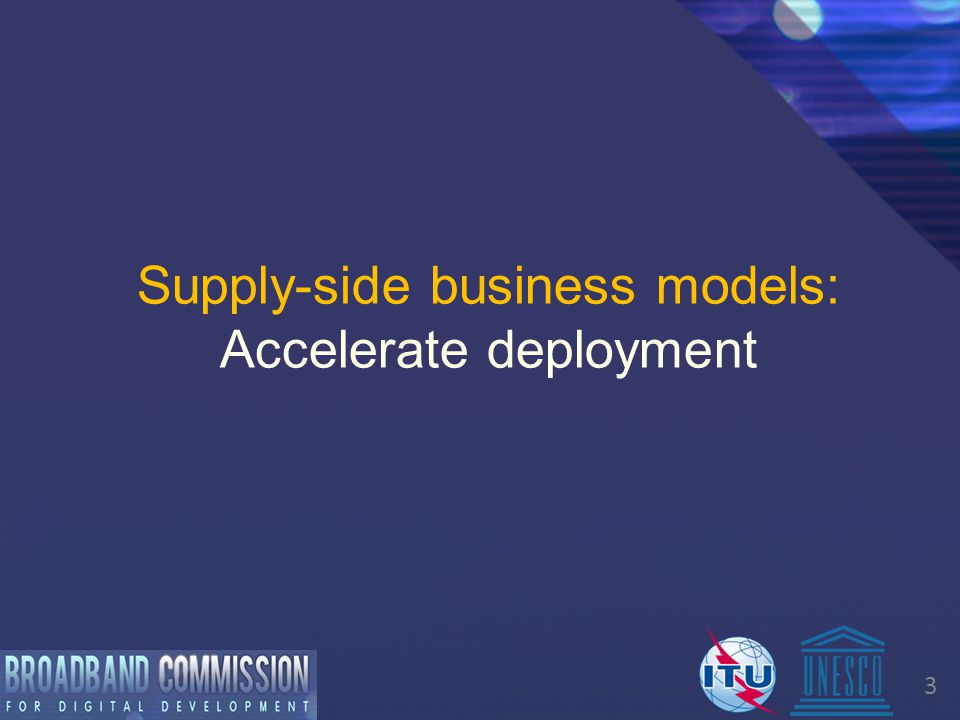 4 Supply side business models  Objective: to make sure that universal service targets are met MARKET STRUCTURE SEVERAL OPERATORS 2-3 OPERATORSONE OPERATORNO OPERATOR HIGH Dense urban areas with high business and residential density MEDIUM Urban areas/towns with primarily residential density LOW Rural areas with sparse residential density VERY LOW Rural areas with very low density DENSITY AND SIZE OF DEMAND
