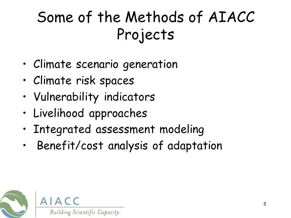 The AIACC Data, Methods and Synthesis Website http://www.aiaccproject.org http://sedac.ciesin.columbia.edu/aiacc