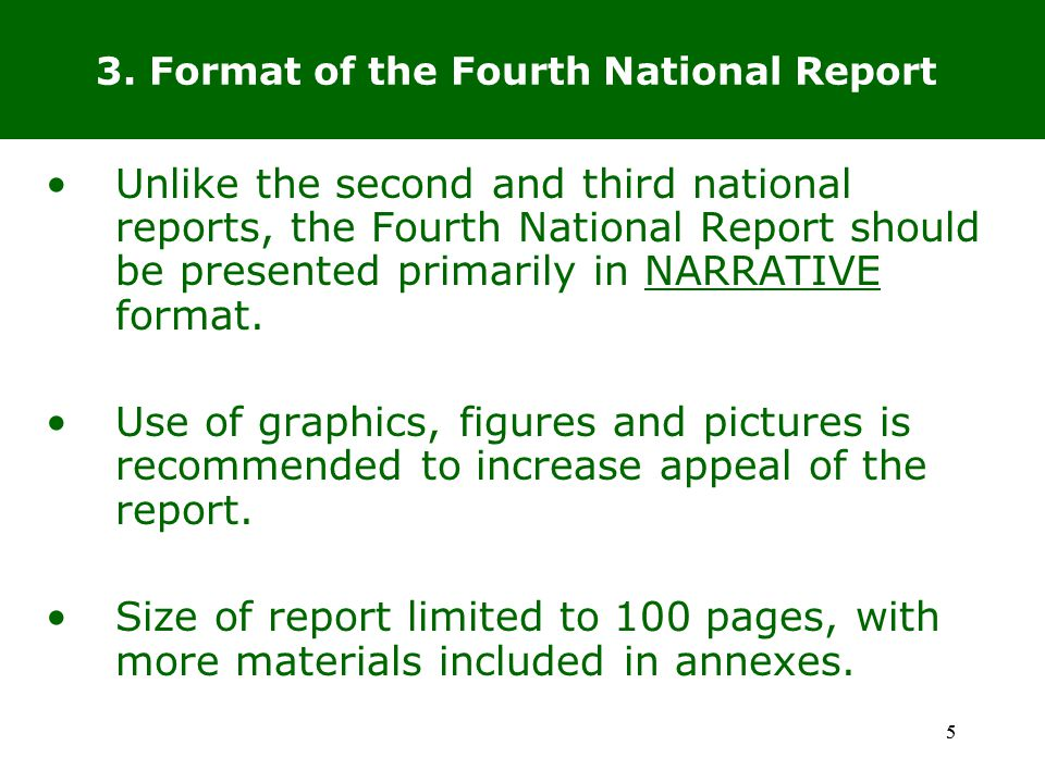 16 9.What assistance is available to Parties for the preparation of the Fourth National Report.