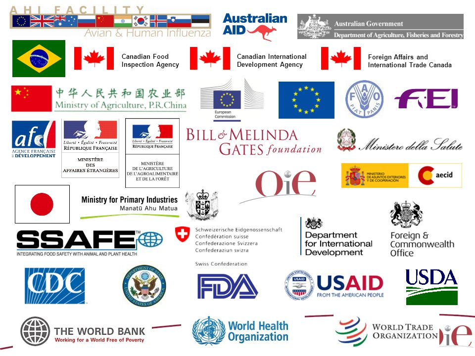Canadian International Development Agency Canadian Food Inspection Agency Foreign Affairs and International Trade Canada