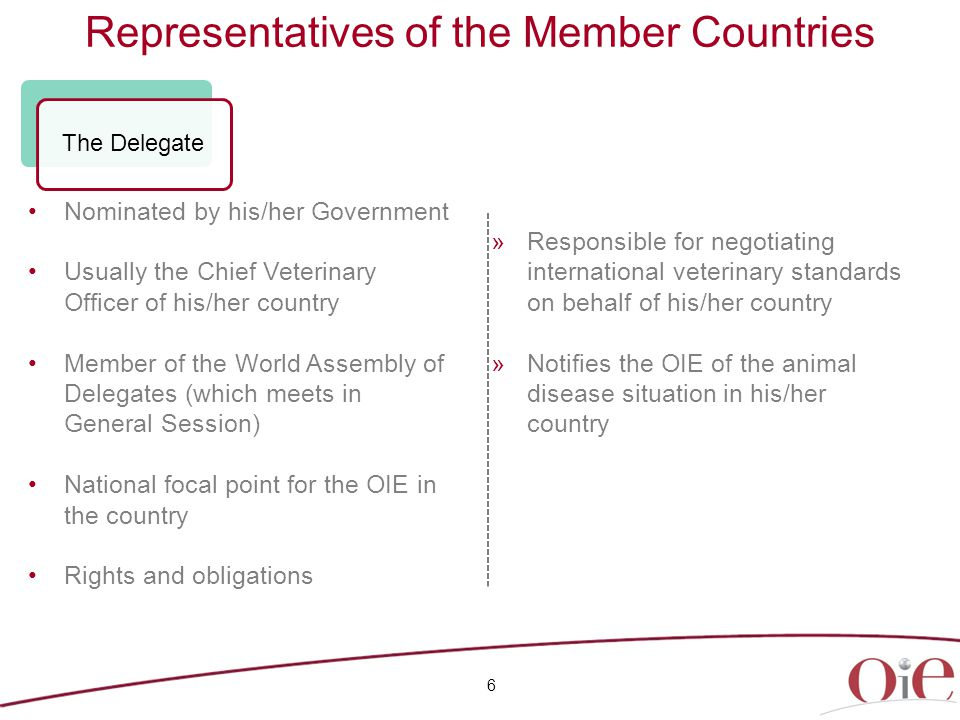 27 Fifth Strategic Plan 2011-2015 Reinforcing priority missions Animal health is a key component of animal welfare The OIE is recognised worldwide as the leader in developing international standards on animal welfare Animal welfare: a strategic commitment by the OIE