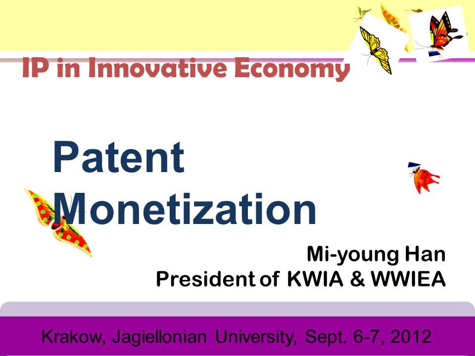 Mi-young Han President of KWIA & WWIEA Krakow, Jagiellonian University, Sept.