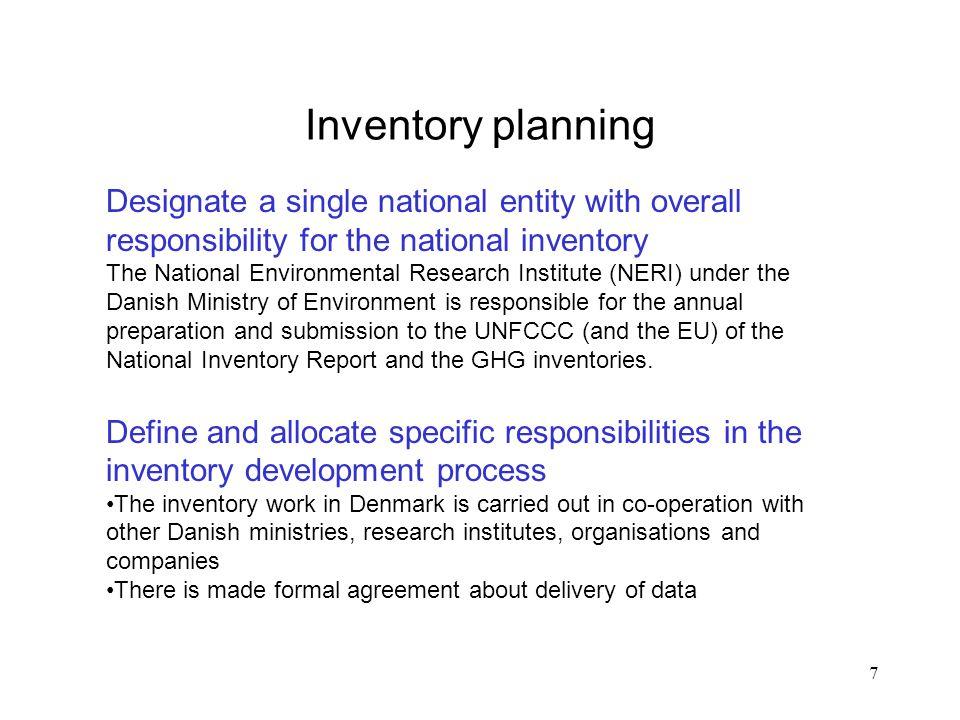 18 Example of the PM's: QA/QC procedures