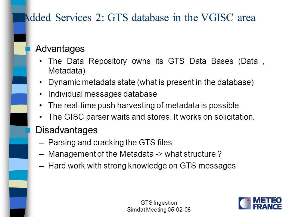 GTS Ingestion Simdat Meeting 05-02-08