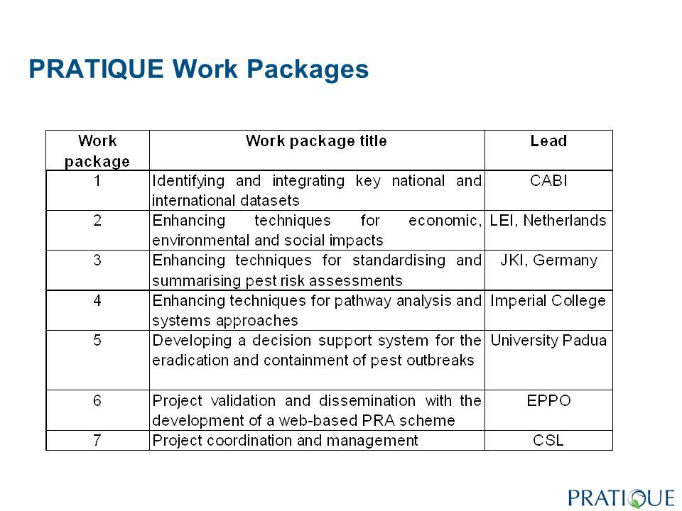 PRATIQUE Work Packages