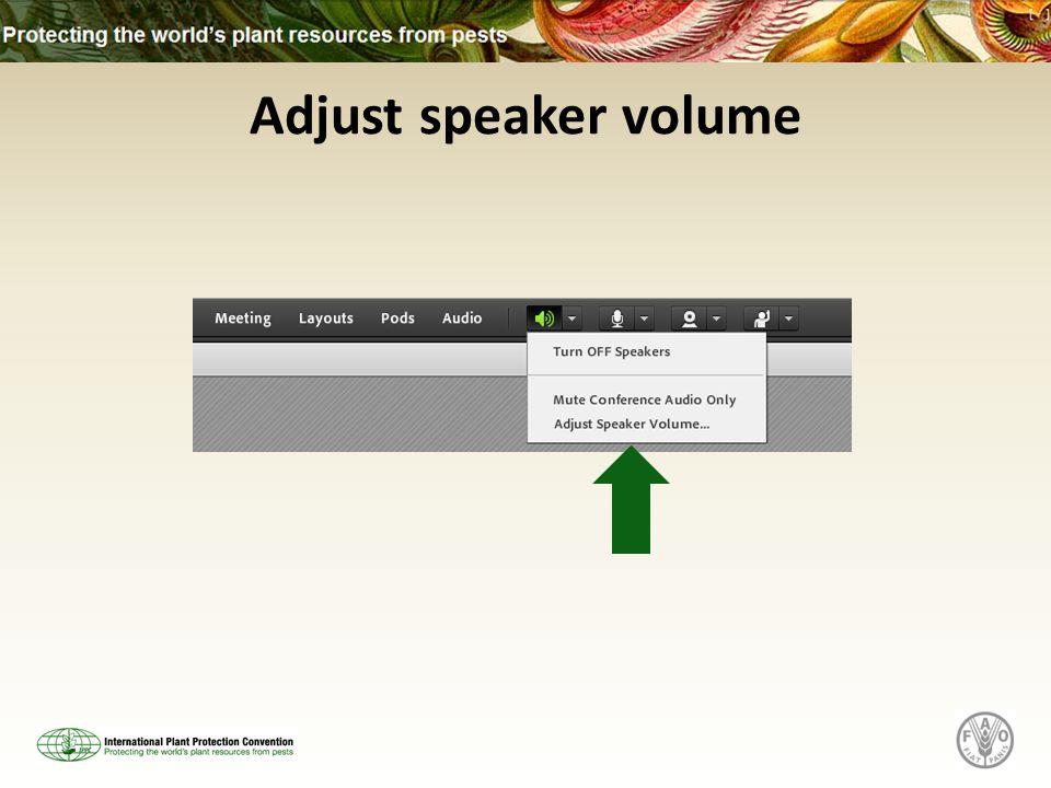 Adjust speaker volume