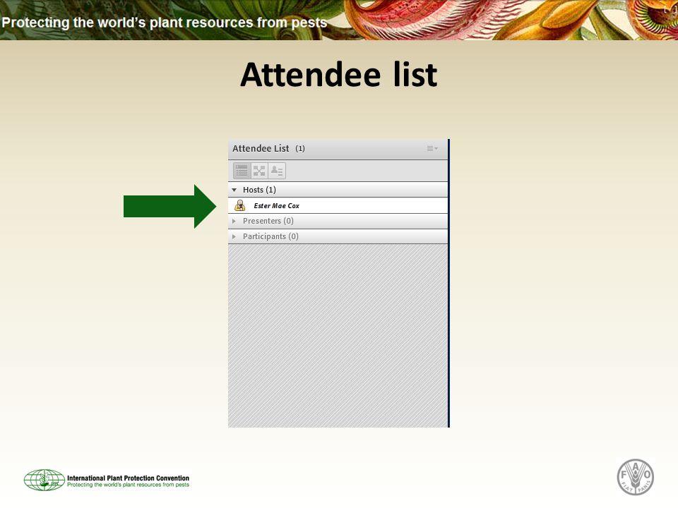 Attendee list