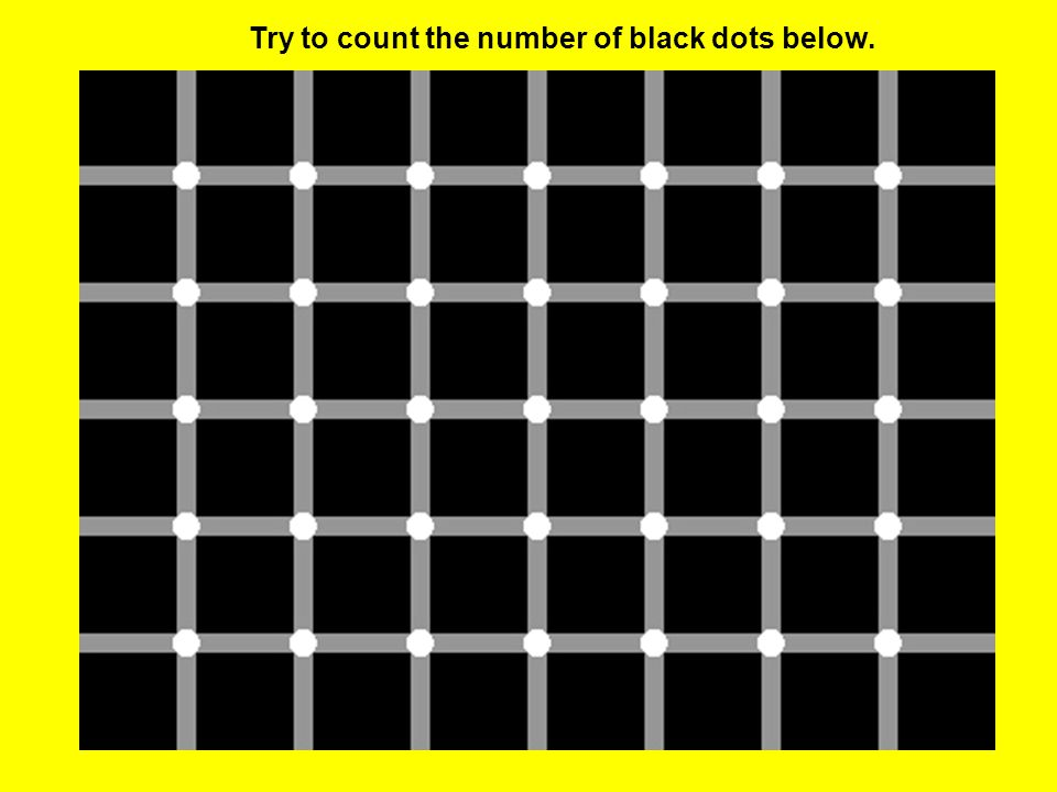 Try to count the number of black dots below.