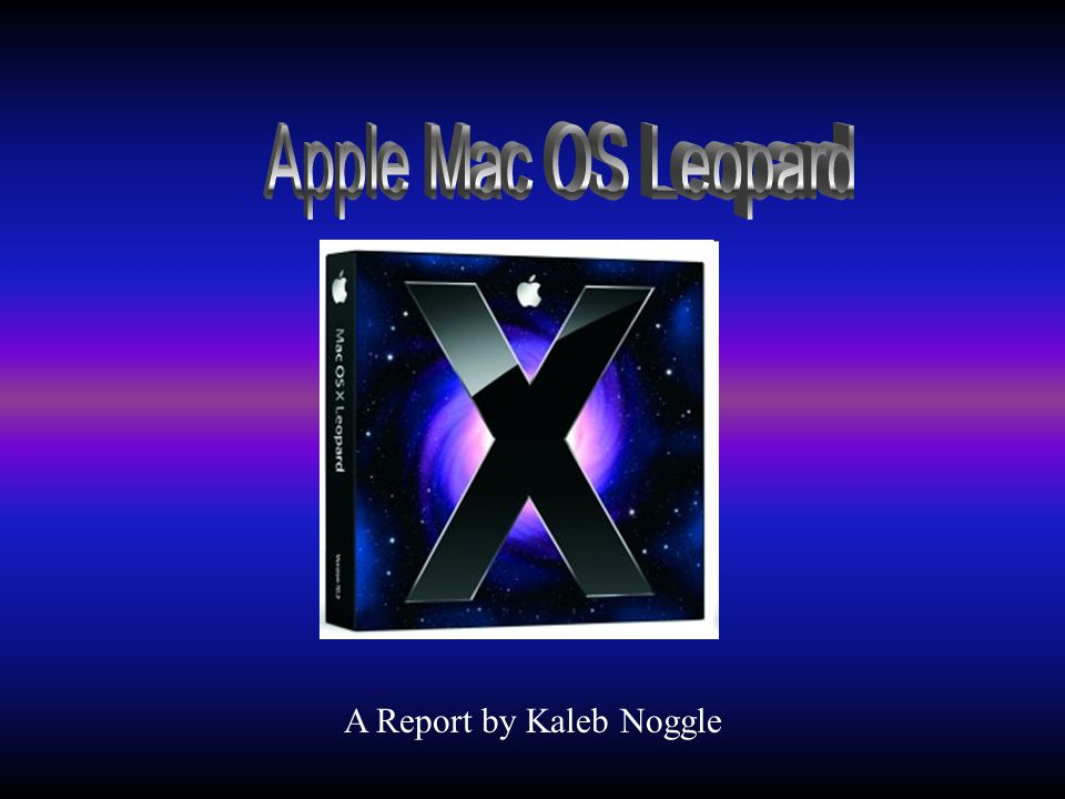 A Report by Kaleb Noggle