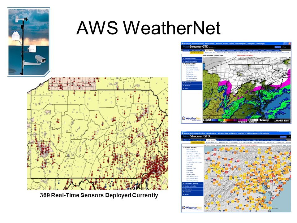 AWS WeatherNet 369 Real-Time Sensors Deployed Currently