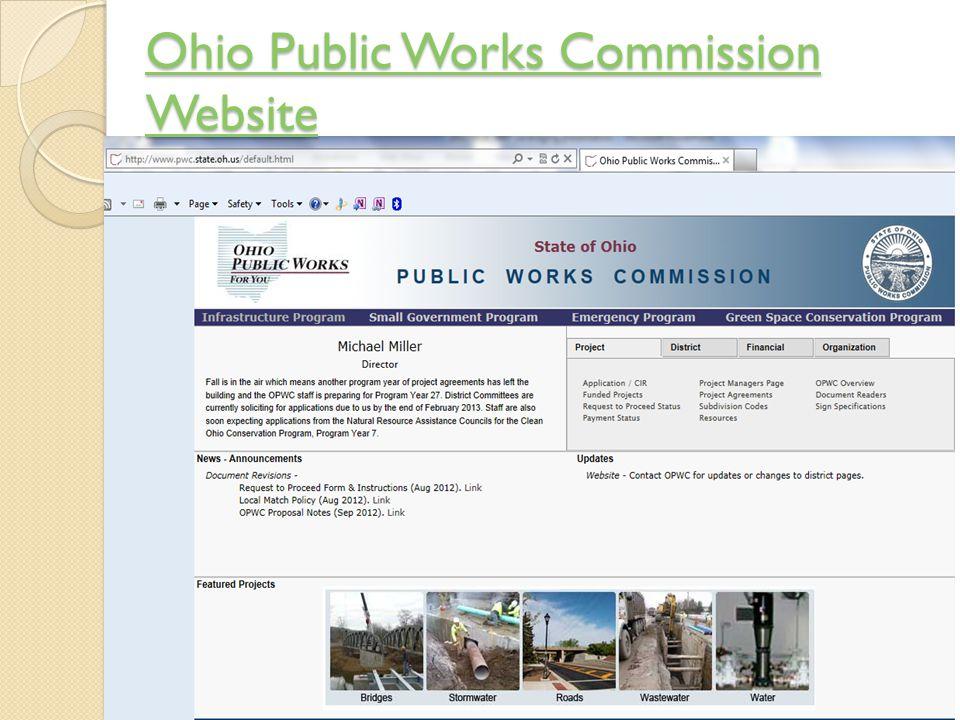 Ohio Public Works Commission Website Ohio Public Works Commission Website