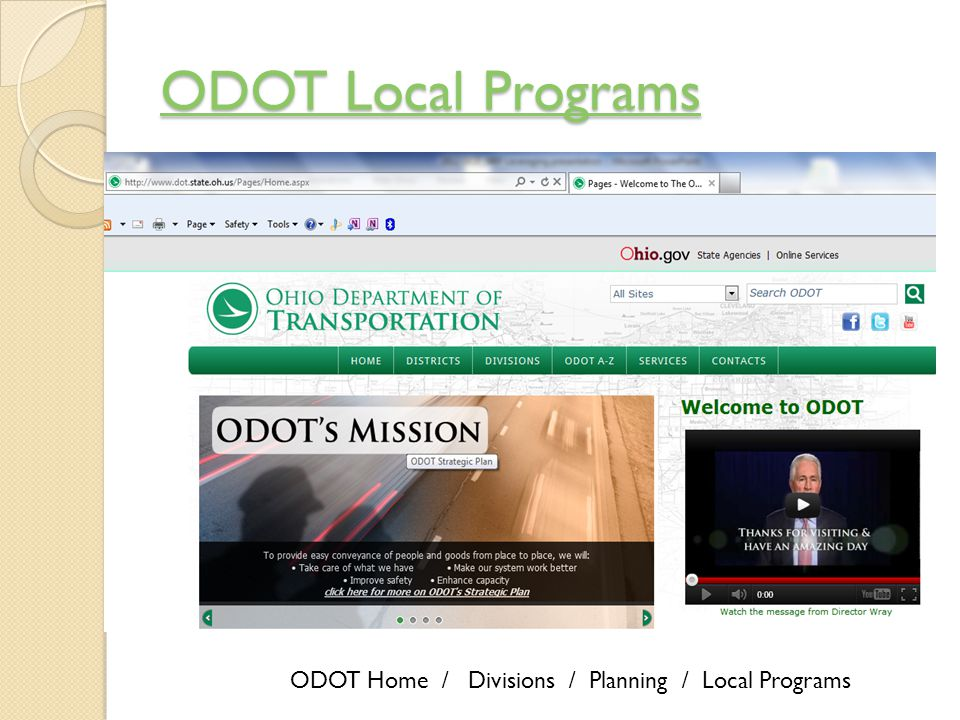 ODOT Local Programs ODOT Local Programs ODOT Home / Divisions / Planning / Local Programs