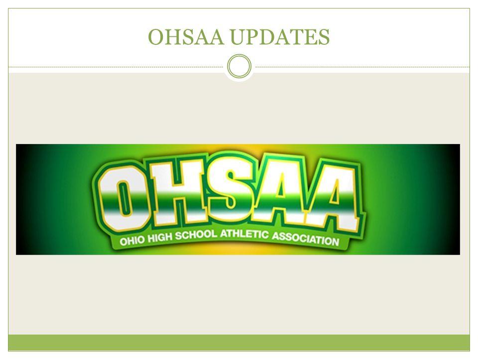 OHSAA UPDATES