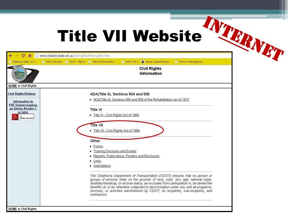 Title VII Website INTERNET