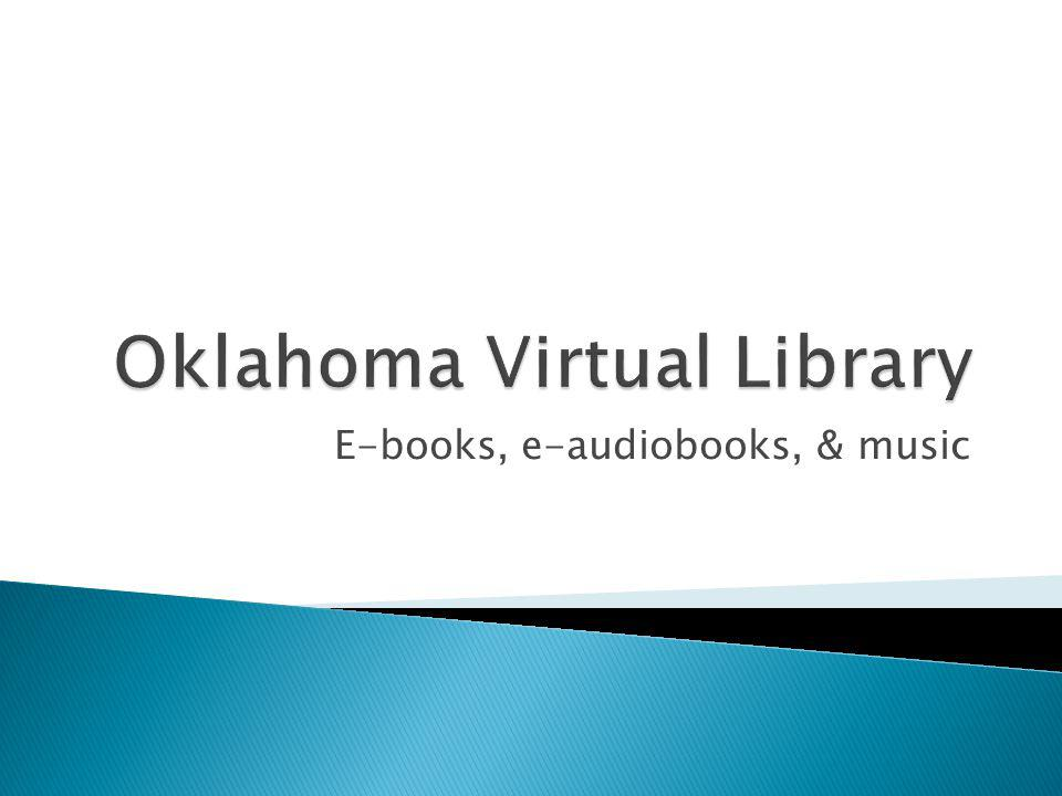E-books, e-audiobooks, & music