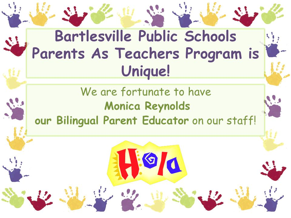 Bartlesville Public Schools Parents As Teachers Program is Unique.