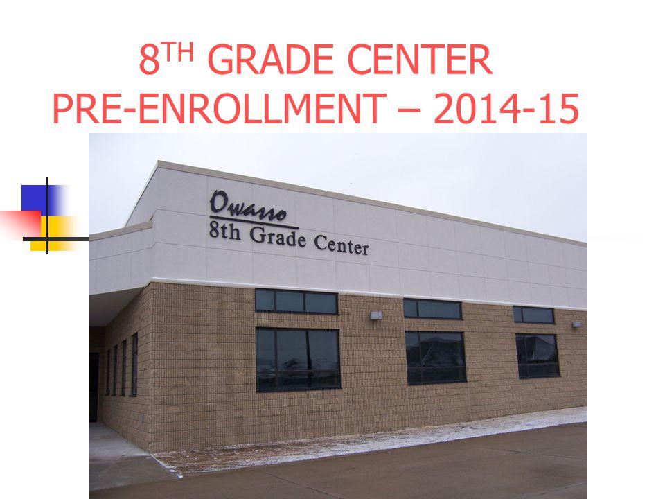 8 TH GRADE CENTER PRE-ENROLLMENT – 2014-15