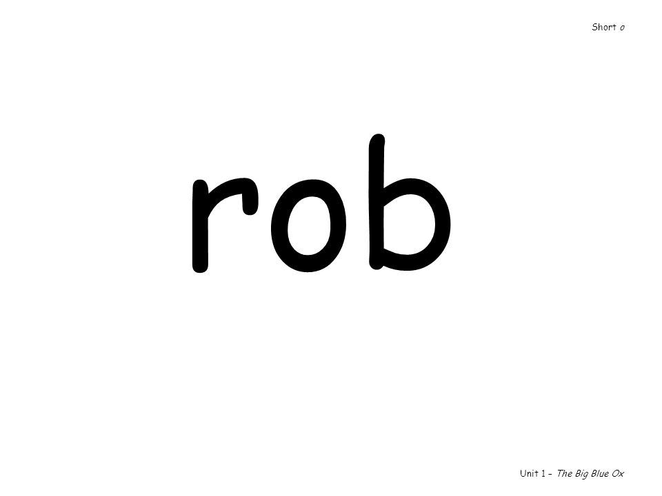 rob Unit 1 – The Big Blue Ox Short o