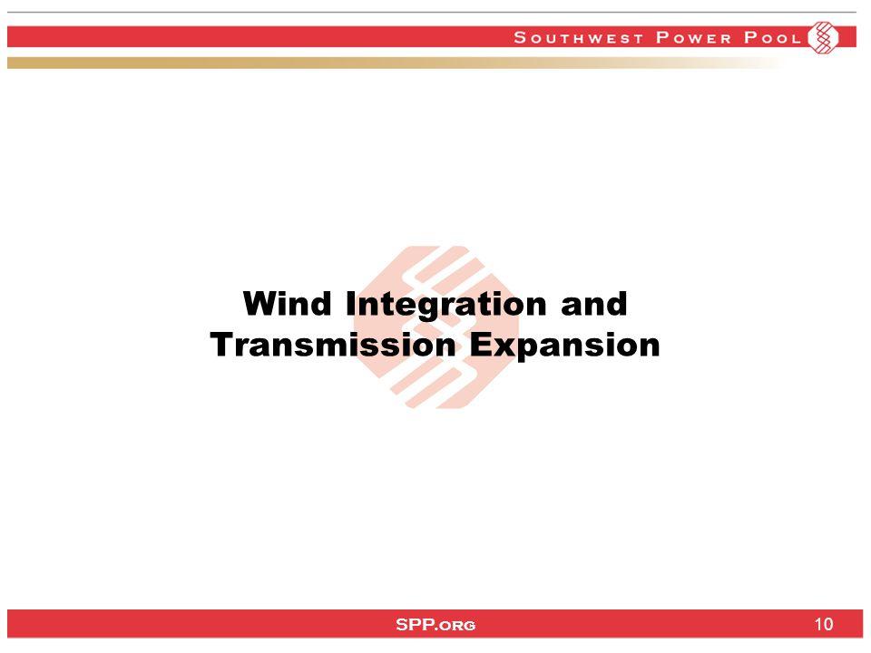 SPP.org 10 Wind Integration and Transmission Expansion