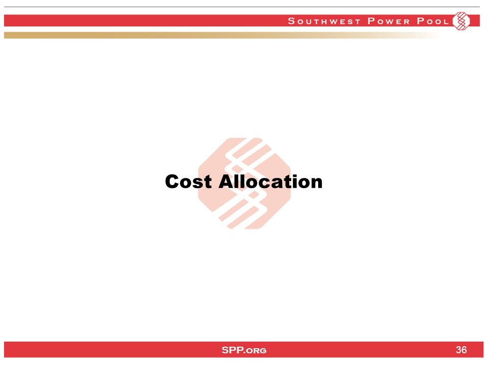 SPP.org 36 Cost Allocation