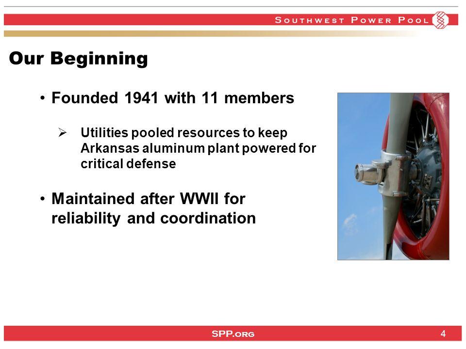 SPP.org 5 3 Interconnections / 8 NERC Regions