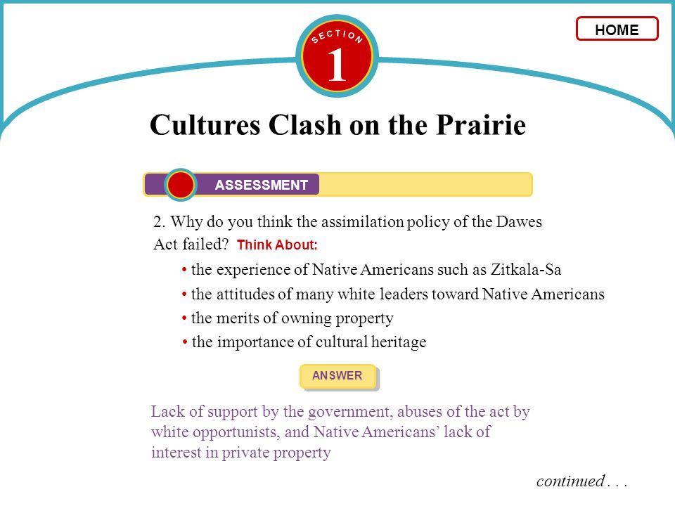 1 Cultures Clash on the Prairie 3.