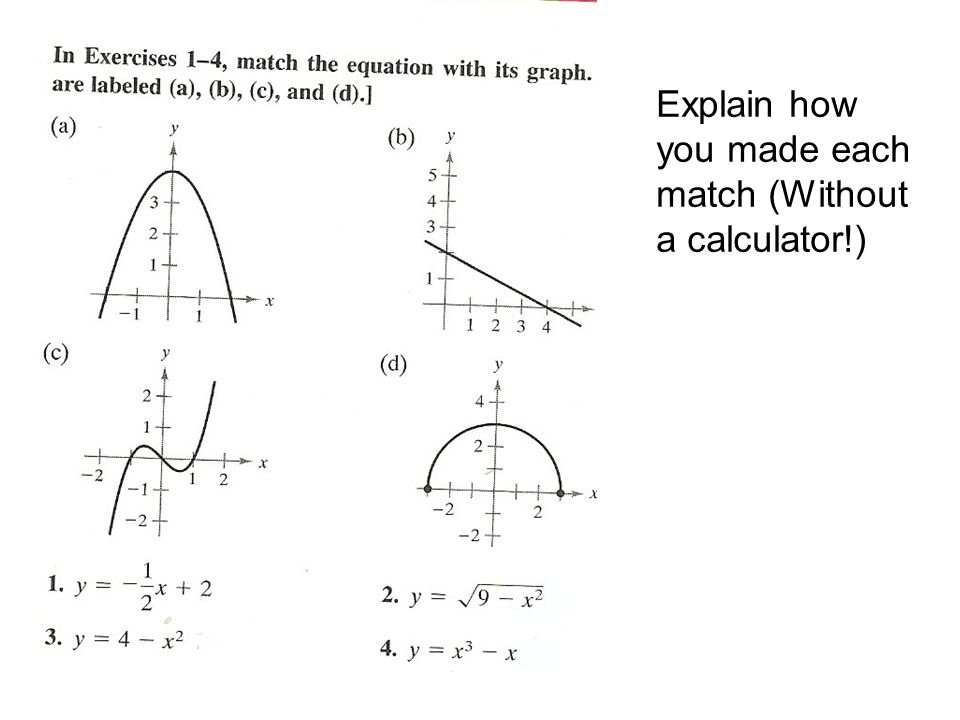 Section P.1: Graphs and Models p.3 - 10