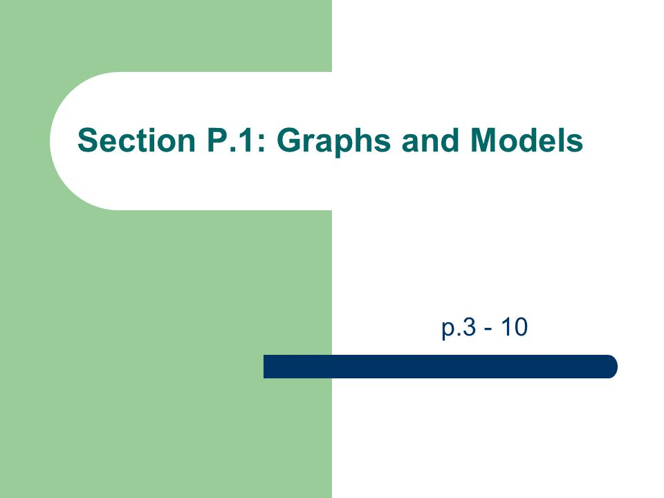 Section P.1: Graphs and Models p