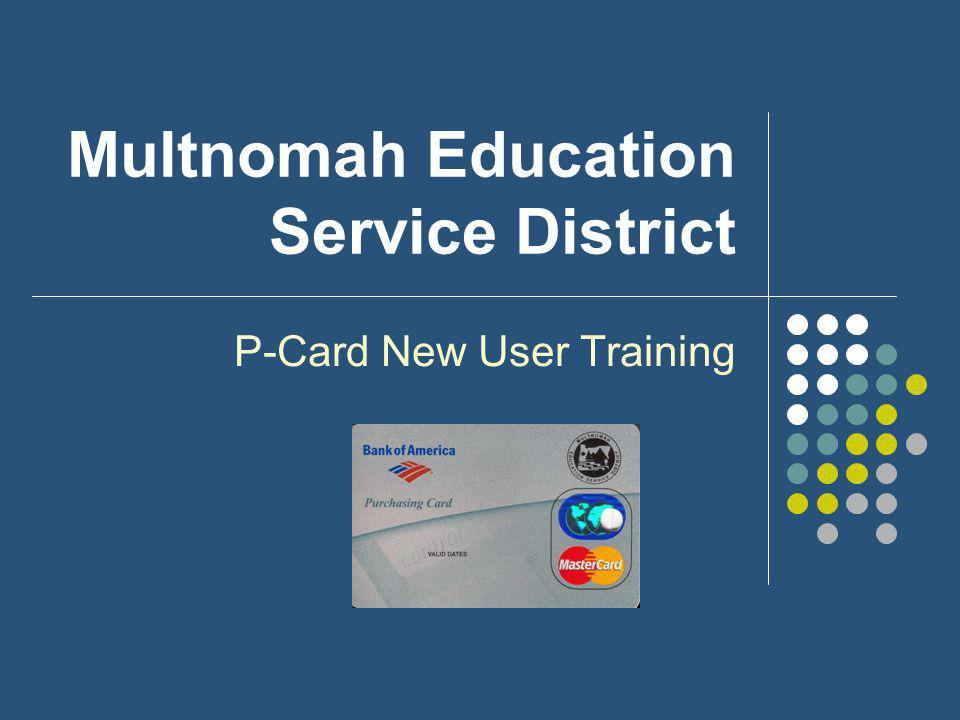 P-Card Training Agenda 1.Introduction 2. Procurement Ethics 3.
