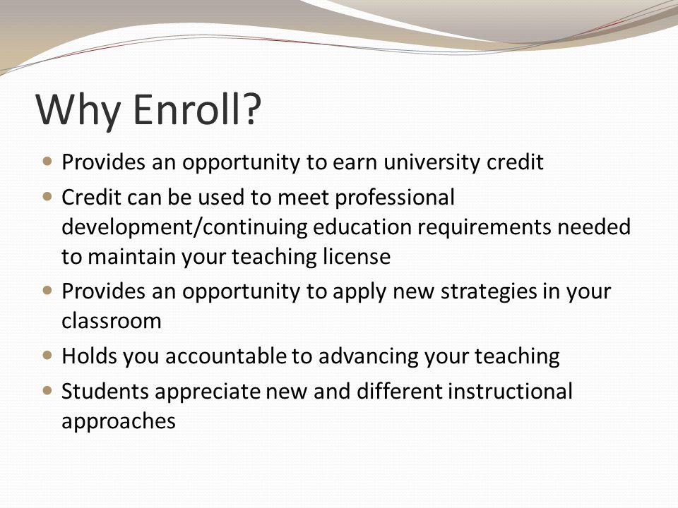 Why Enroll.