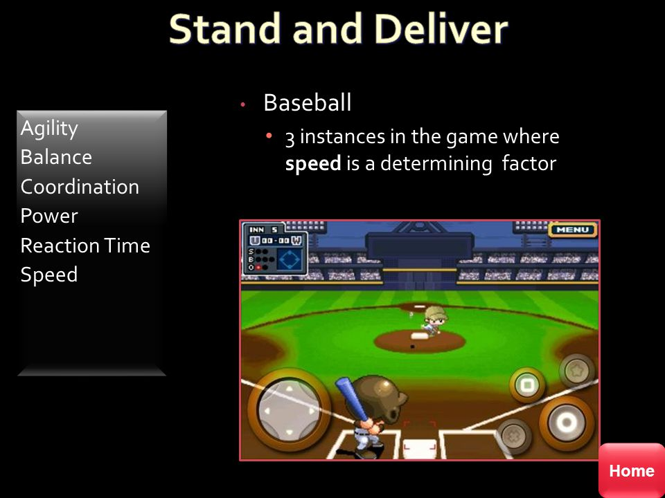Baseball 3 instances in the game where speed is a determining factor