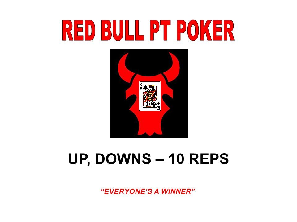 UP, DOWNS – 10 REPS EVERYONE'S A WINNER