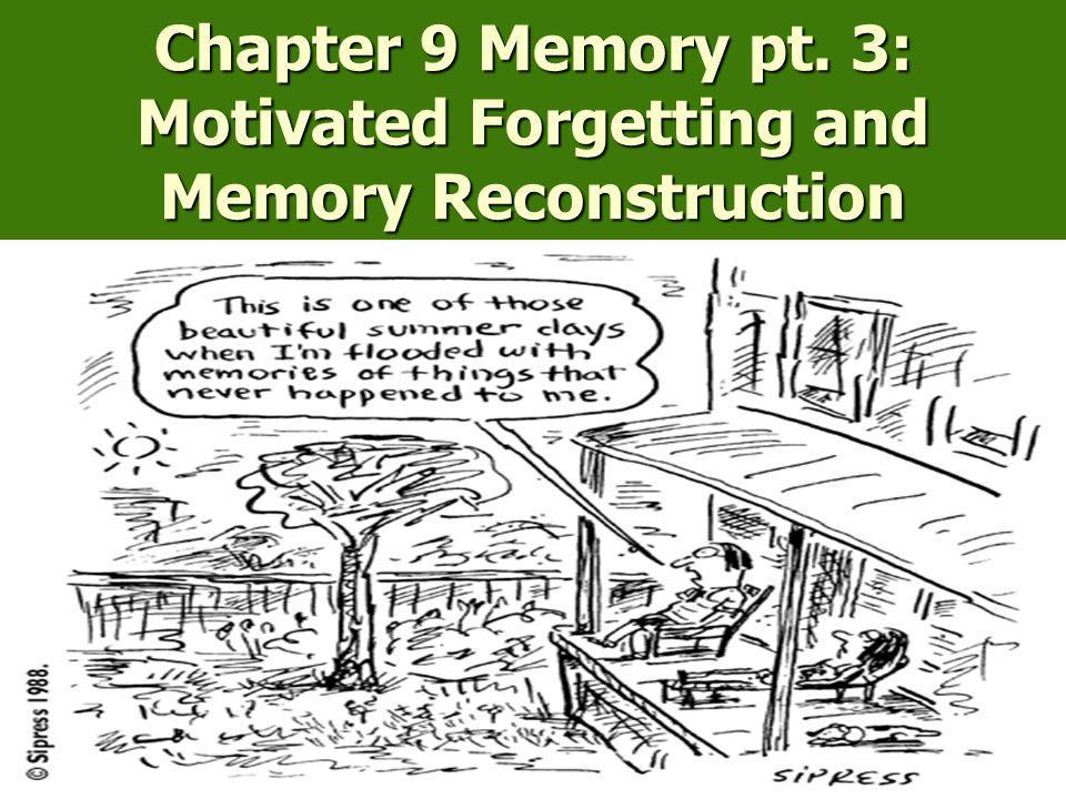 Chapter 9 Memory pt. 3: Motivated Forgetting and Memory Reconstruction