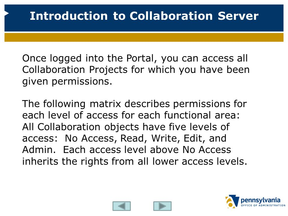 Once logged into the Portal, you can access all Collaboration Projects for which you have been given permissions.
