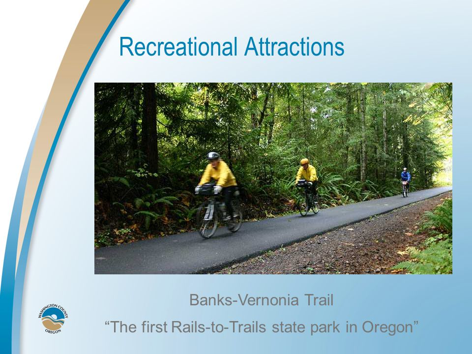 Recreational Attractions Banks-Vernonia Trail The first Rails-to-Trails state park in Oregon